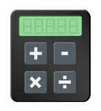 Simple calculator icon. Vector illustration of simple dark calculator icon with basic mathematical tools. Vector eps format 10 is available Stock Photography