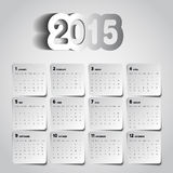 Simple 2015 Calendar, Background card design, week starts with s. Unday Stock Photos