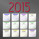 Simple 2015 Calendar. calendar design. Simple 2015 Calendar. 2015 calendar design. 2015 calendar vertical - week starts with sunday Royalty Free Stock Photography