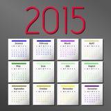 Simple 2015 Calendar. calendar design. Simple 2015 Calendar. 2015 calendar design. 2015 calendar vertical - week starts with sunday vector illustration