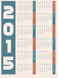 Simple 2015 calendar design. On light background Stock Photography