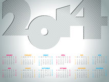 Simple 2014  calendar design Royalty Free Stock Photography