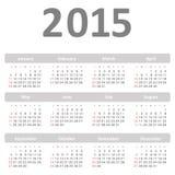 Simple calendar for 2015 year vector. Eps 10 Vector Illustration