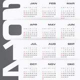 Simple   calendar 2014 Stock Photos