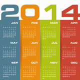 Simple   calendar 2014 Royalty Free Stock Photo