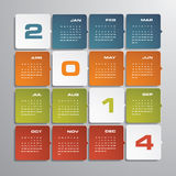 Simple   calendar 2014 Royalty Free Stock Image