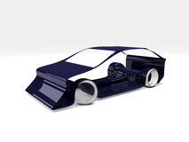 Simple car concept. 3d rendered car model on white background Stock Photo
