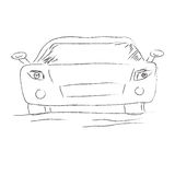 Simple, car, icon, sketch, vector, illustration Royalty Free Stock Images