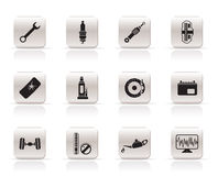 Simple Car Parts and Services icons Royalty Free Stock Photo