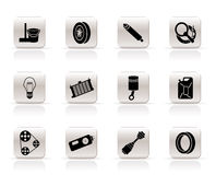 Simple Car Parts and Services icons Royalty Free Stock Images