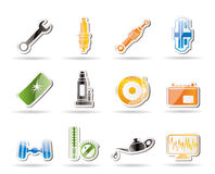 Simple Car Parts and Services icons Royalty Free Stock Photos