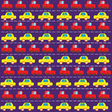 Simple car pattern Royalty Free Stock Image