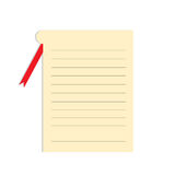Empty card with lines Royalty Free Stock Image
