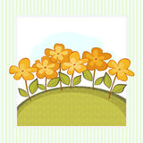 Simple Card With Orange Flowers Royalty Free Stock Photography