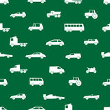 Simple cars black silhouettes icons pattern Stock Photos