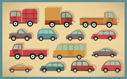Simple cars collection Stock Photo