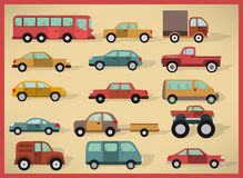 Simple cars collection Royalty Free Stock Image