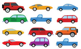 Simple cars collection Royalty Free Stock Photos