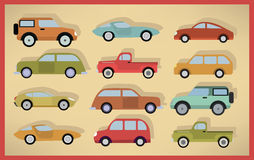 Simple cars collection Stock Photos
