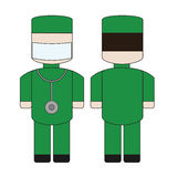 Simple cartoon doctor Stock Photo
