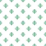 Simple cartoon fir tree on white background. Christmas wrapper. Simple cartoon fir tree on white background. Seamless pattern. Christmas wrapper Royalty Free Stock Photos