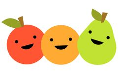 Simple Cartoon Fruit Royalty Free Stock Photography
