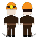 Simple cartoon miner Royalty Free Stock Photography