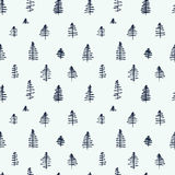Simple cartoon seamless patterns with cute trees. Simple cartoon seamless patterns with cute hand drawn trees on white background. Flat illustration for use as a Royalty Free Stock Photo