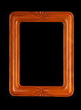 Simple carved picture frame Stock Images