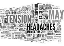 A Simple Case Of Chronic Headaches Word Cloud Stock Photos