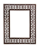 Simple cast metal picture frame Royalty Free Stock Photography