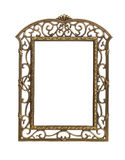 Simple cast metal picture frame Royalty Free Stock Photos