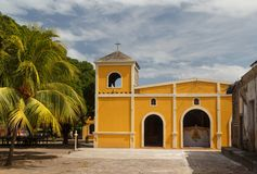 Simple Catholic church on Ometepe island. Nicaragua Royalty Free Stock Images