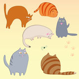 Simple cats set Stock Images