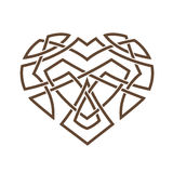 Simple Celtic pattern in the form of a heart Stock Photography