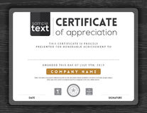 Simple certificate border frame design template Stock Images