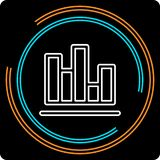 Simple Chart Thin Line Vector Icon stock illustration