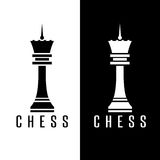 Simple chess figure queen vector design. Template Royalty Free Stock Photos