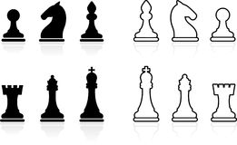 Simple Chess set collection Royalty Free Stock Image