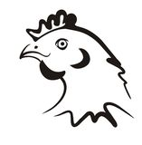 Simple chicken icon Stock Image
