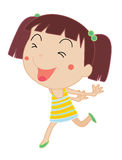 Simple child cartoon Royalty Free Stock Image