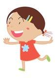 Simple child cartoon Stock Photos