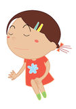 Simple child cartoon Royalty Free Stock Image