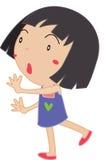 Simple child cartoon Stock Photo