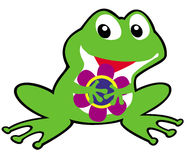 Simple childish frog Royalty Free Stock Photography