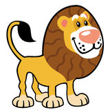 Simple childish lion Royalty Free Stock Photos