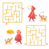Simple children`s labyrinth. Stock Image