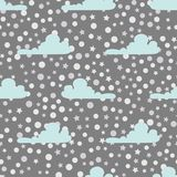 Seamless pattern with clouds Stock Photography