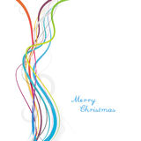 Simple Christmas background with colorful lines Stock Images
