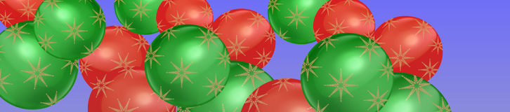 Simple Christmas bauble banner timeline header smartphone or tablet Royalty Free Stock Photo